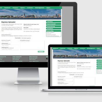 Express Uploader - Interface für Kunden