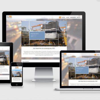 MK timelapse - Webseite - auf verschiedenen Geräten